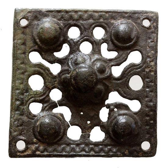 Ornamento de Bronze - Período das Cruzadas - Cerca de 1200-1300 dC