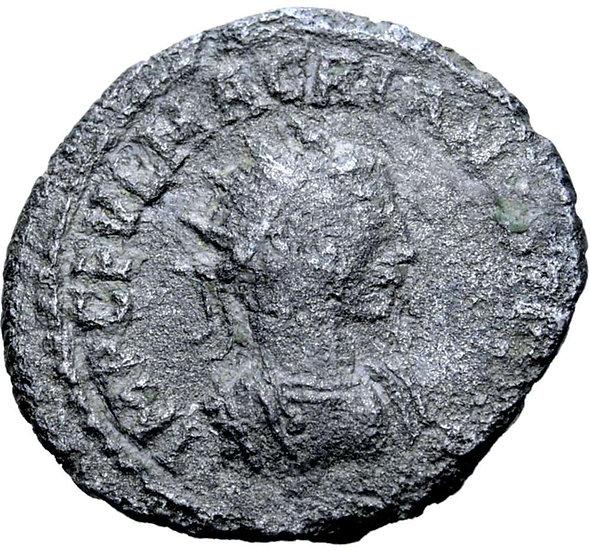 Moeda Escassa de Macrianus BI Antoniniano (usurpador). Antióquia, 260-261 dC.