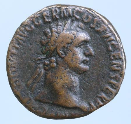 Moeda Romana Domitian. Æ As, AD 81-96. Rome,