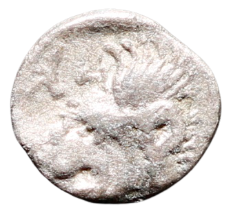 Moeda Grega Escassa Hemiobol da Mysia, Kyzikos (450-400 AC).