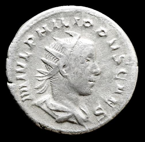 Moeda Romana Escassa de Felipe II (Marco Julio Severo Filipo).