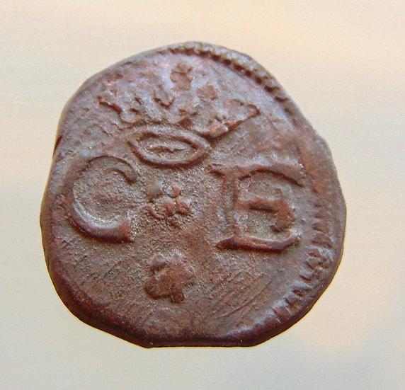 Moeda italiana do período 1580-1630 Itália - Sabóia - Carlos Emanuel, 1