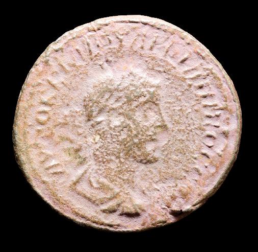 Moeda Romana Provincial Tetradracma de Prata Bl de Felipe II (247-249 dC),