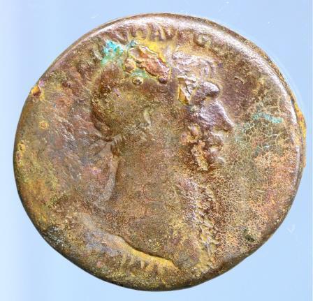 Moeda romana de Trajan, AD 98-117. AE Sestertius