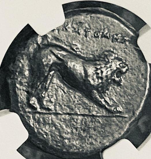Moeda Grega Rara de Caria Hecatomnus (pai de Mausollos) (circa 395-377 aC)NGC
