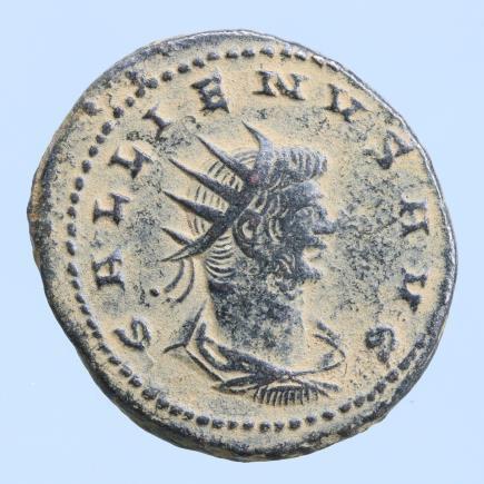 Moeda Romana GALLIENUS (253-268). Antoninianus. Antioch.