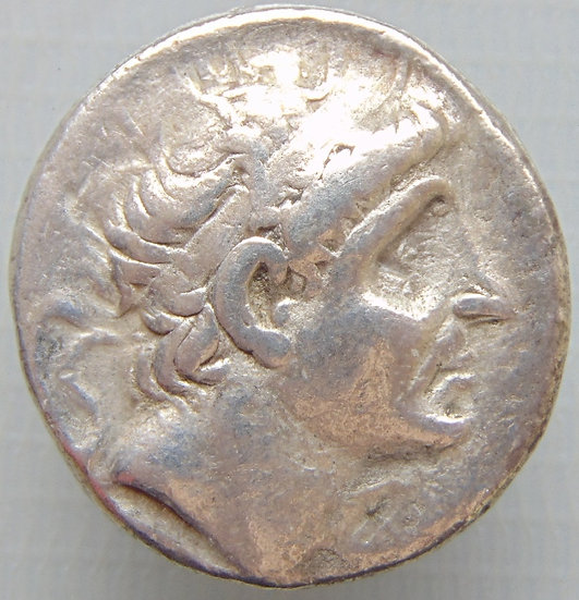 Moeda Grega Tetradracma de Antiochos I - Ref c2781