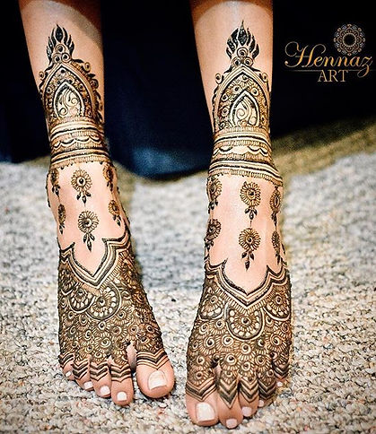 Hennaz Art Maharani Bridal Henna Feet