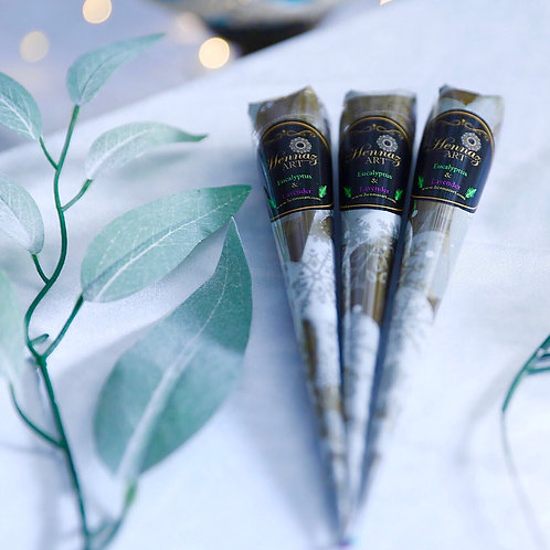 3 Henna Cones (Eucalyptus and Lavender)