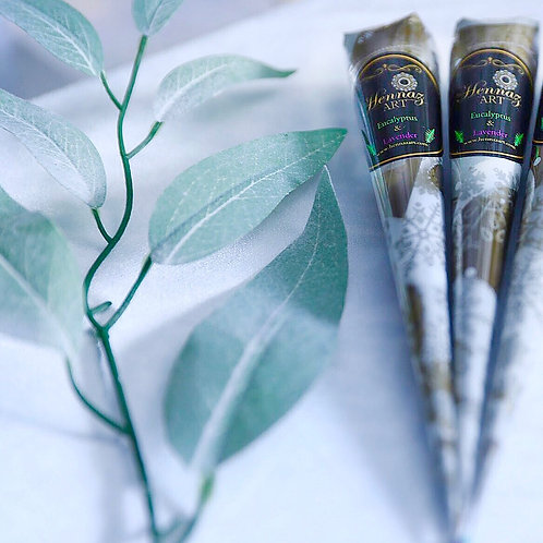 2 Henna Cones  (Eucalyptus and Lavender)
