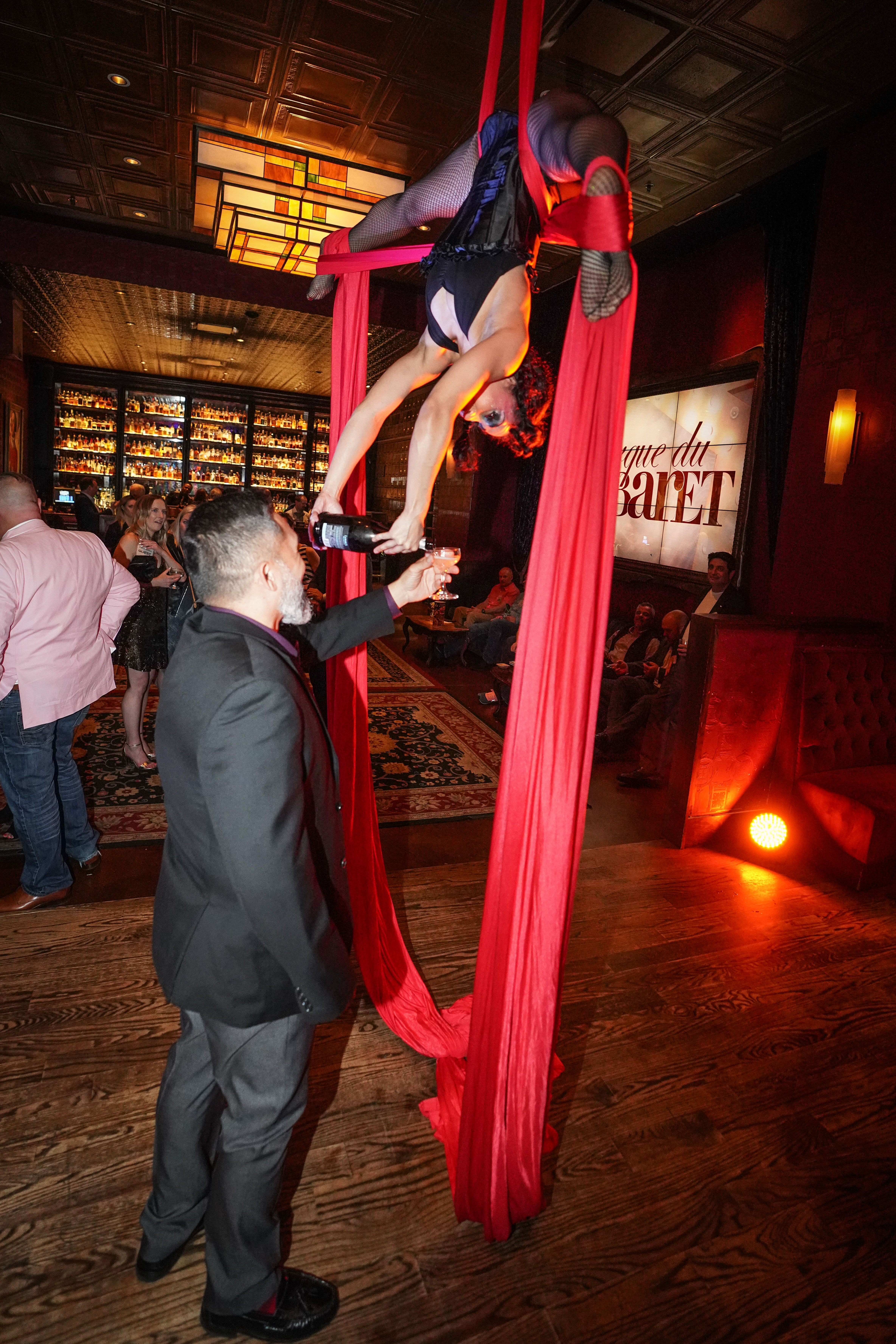Champagne Aerialist Gig at Event