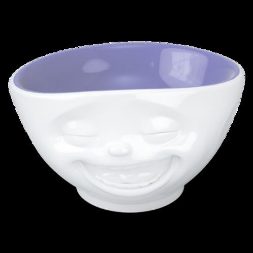"Schale ""Lachend"" innen Lavendel, 500 ml"