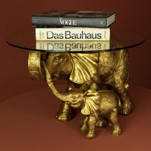 Beistelltisch Elephants, gold