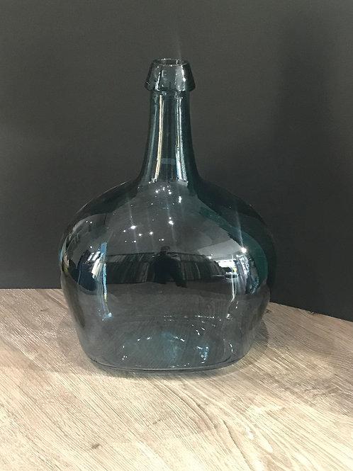 Vase blau Glas
