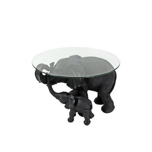 Beistelltisch Elephants, schwarz