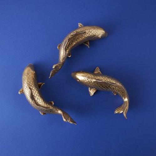 Fisch, gold  3er Set