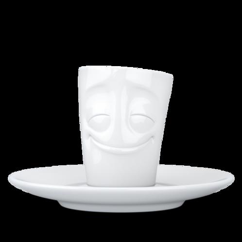"""Espresso-Mug mit Henkel ,,Vergnügt"""" 80 ml"""