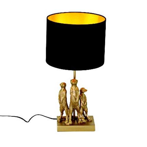Tischleuchte Erdmännchen, gold