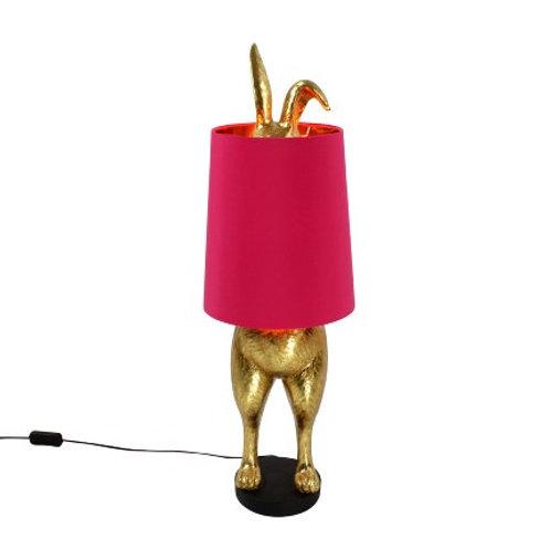 Tischleuchte Hiding Bunny, gold/magenta