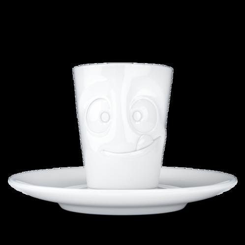 """Espresso-Mug mit Henkel ,,Lecker 80"""" ml"""