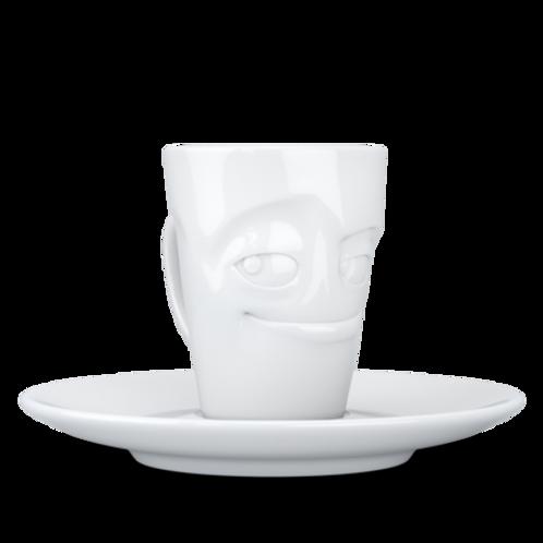 """Espresso-Mug mit Henkel ,,Verschmitzt"""" 80 ml"""