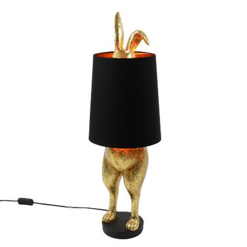 Tischleuchte Hiding Bunny, gold/schwarz
