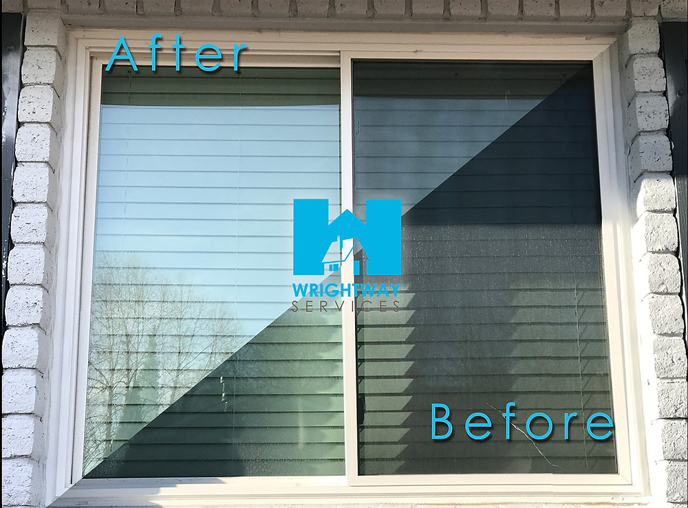 Window Cleaning before and after Utah County