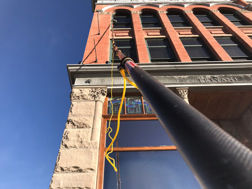 Four story window cleaning in Springville