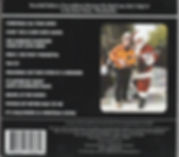 "Back cover and song listing for Randy Brooks Holiday House Concert live CD, including ""Grandma Got Run Over by a Reindeer"""