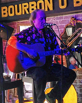 Songwriter Randy Brooks onstage at the Bourbon O Bar, New Orleans