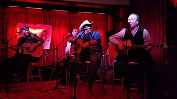 Randy Brooks, Scott Southworth, Jimbeau Hinson, and Marc-Alan Barnette perform at the Blue Bar as part of Nashville's Tin Pan South songwriterr festival