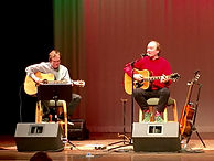 Songwriter Randy Brooks, accompanied by Johnny Hooper, in concert at the Allen, Texas, Library auditorium