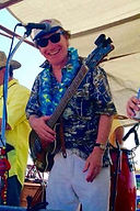 Songwriter Randy Brooks, performing with the Bad Monkeys at a Jimmy Buffett parking lot party in Frisco, Texas