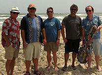 Alan White, Kelly Brown, Louie Chambers, Mike Eiras, and Randy Brooks convene once a year as the Sand Band, for Sandfest in Port Aransas, Texas