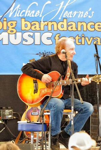Songwriter Randy Brooks at Michael Hearne's Big Barndance, Taos