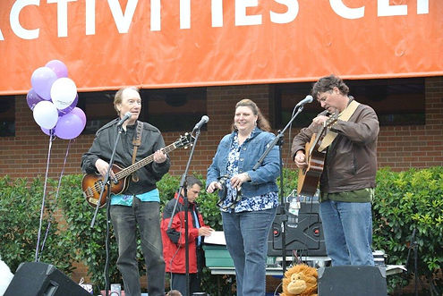 Sunrise appearance at the Arlington Memory Walk Alzheimer's benefit.  Singer/songwriters Randy Brooks, Sharon Oefinger, and Kelly Brown
