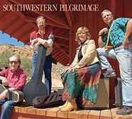 Americana band Southwestern Pilgrimage CD cover.  From left: Randy Brooks, Rick Sparks, Karen Roemmich, Rod Phillips.  Photographed at the Gold Hill, Nevada, train station by Bob Piechocki.