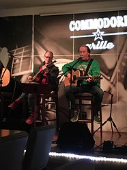 Songwriter Randy Brooks, accompanied by brother Ronnie Brooks, at the Commodore Grille, Nashville