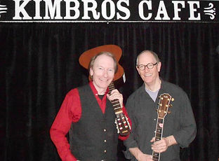 Musician brothers Randy and Ronnie Brooks at Kimbros Cafe and Pickin' Parlor in Franklin, Tennessee