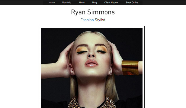 Portfolio & CV website templates – Fashion Stylist