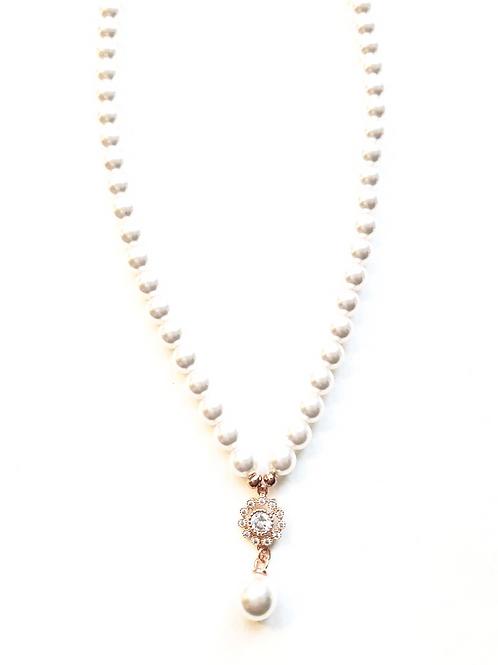 Perlenkette *Mitzi und Perle*, rosevergoldet