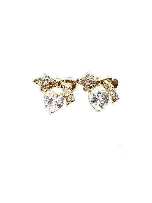 Ohrringe *Herzschleiferl* |vergoldet