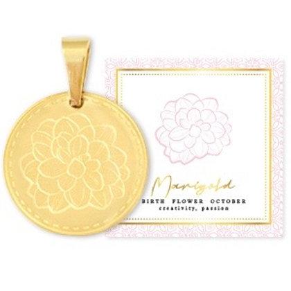 Birthflower Kette OKTOBER gold