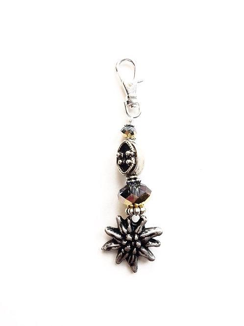 Schlüsselanhänger *Edelweiss* Crystal Aurum