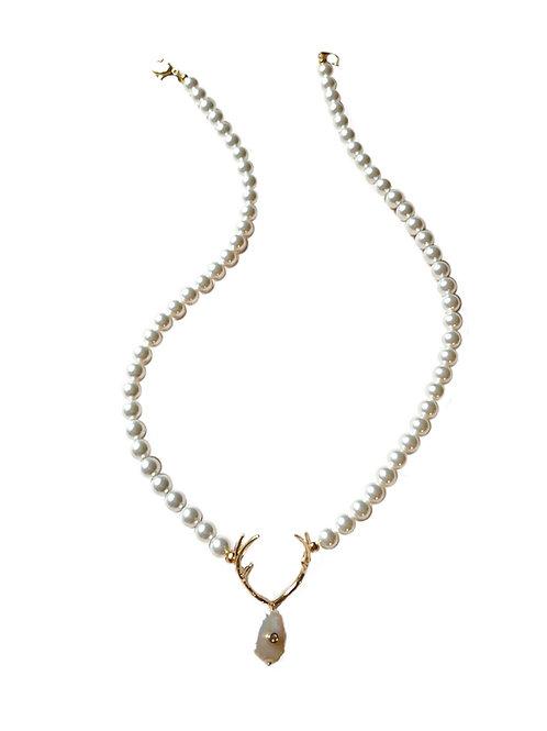 Perlenkette REHSCHATZ white/vergoldet