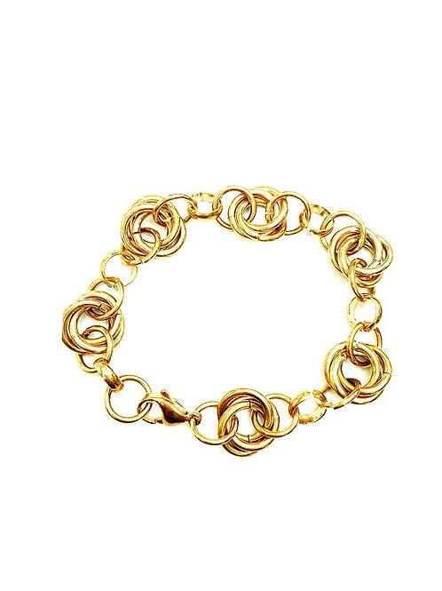 Gliederarmband aus Edelstahl rosegold