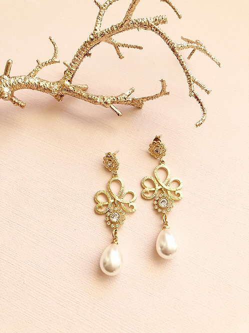 Ohrringe VENUS mit Perlen