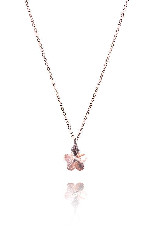 Kette *rosa Blümchen* Sterling Silber, rosevergoldet