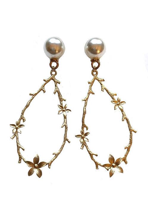 Ohrringe *Blütenperle* | vergoldet