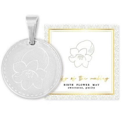 Birthflower Kette MAI silber